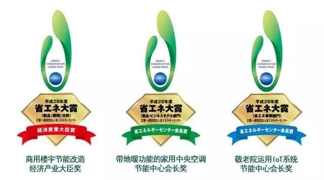 荣誉丨大金空调荣获2016年度日本节能大奖